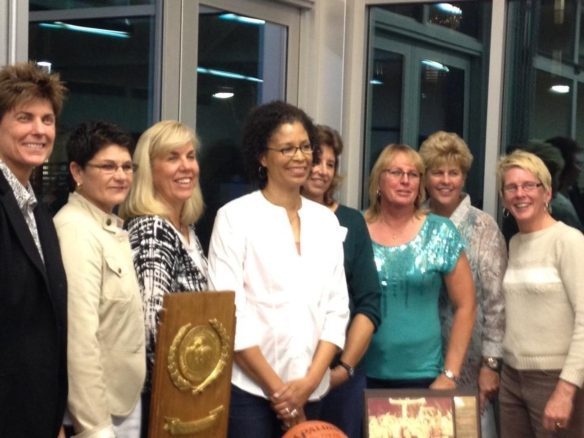 Members of the 1981-82 Cal Poly Women's Basketball National Championship Team