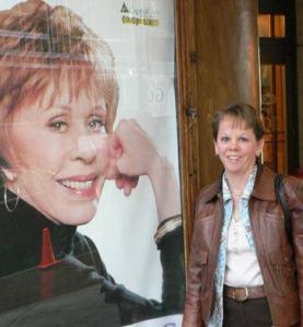 Me at Carol Burnett's Q&A show Schenectady, NY.
